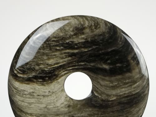 Sculptures by Ron Dier Design seen at Interior Crafts Inc., Chicago - Obsidian Disk