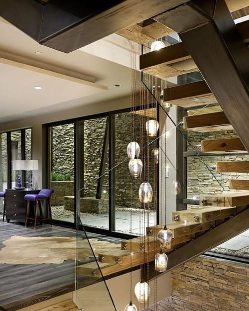 Pendants by CP Lighting seen at Private Residence, Aspen - Liquor Lamp Pendants