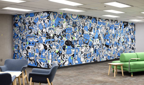 Murals by Trio Magnus seen at Wolters Kluwer Canada Limited, Toronto - Wolters Kluwer Canada Office
