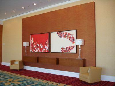 Paintings by Farida Hughes seen at Hilton Orlando, Orlando - Abstract artwork | Two paintings by Farida Hughes