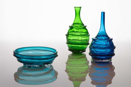 Tableware by Kazuki Takizawa / KT Glassworks seen at KT Glassworks, Los Angeles - Textured Vessels