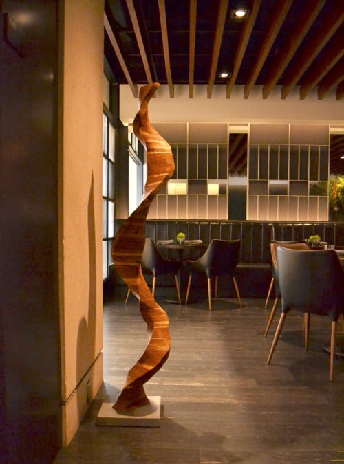 Sculptures by Lutz Hornischer - Sculptures & Wood Art seen at The Vault Restaurant, San Francisco - Abstract Sculpture - Helix
