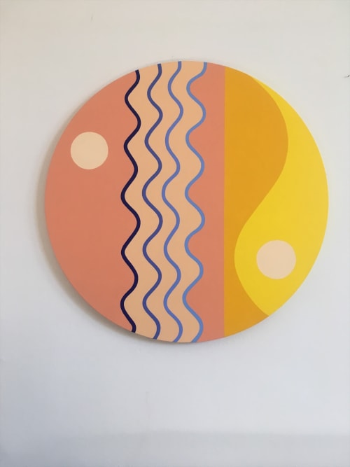 Paintings by Robyn A Frank seen at Private Residence, New York - Unbounded, the solar self