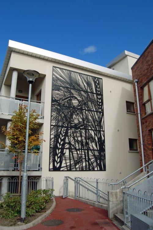 Sculptures by Jo Chapman seen at Gleann na hEorna, Dublin - Barley