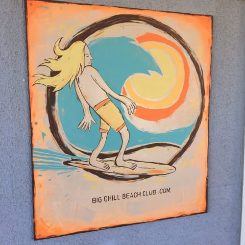 Signage by Paul Carpenter Art seen at Big Chill Beach Club, Bethany Beach - Surf Bro Signage