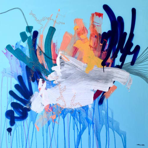Paintings by Laura Schuler seen at Private Residence, Redondo Beach - Be In the Moment