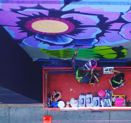 Murals by Lauren Lee Fine Art seen at 63 E Southern Ave, Tempe - Mural for Valley Fair Complex