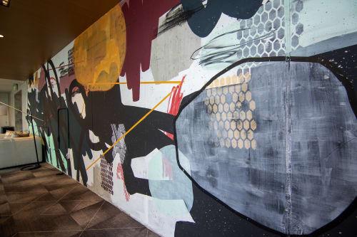 Murals by Stacie U Rose seen at Coda, Atlanta - Vibe Mural