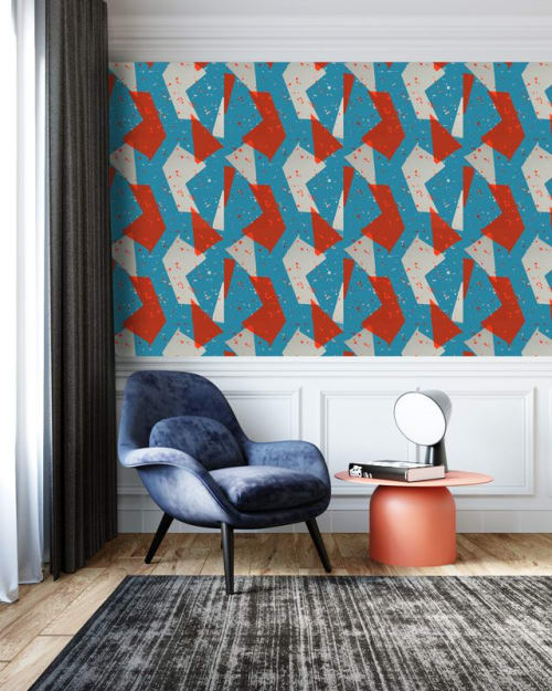Wallpaper by Addicted to Patterns seen at Private Residence, Bristol - Geometric shapes