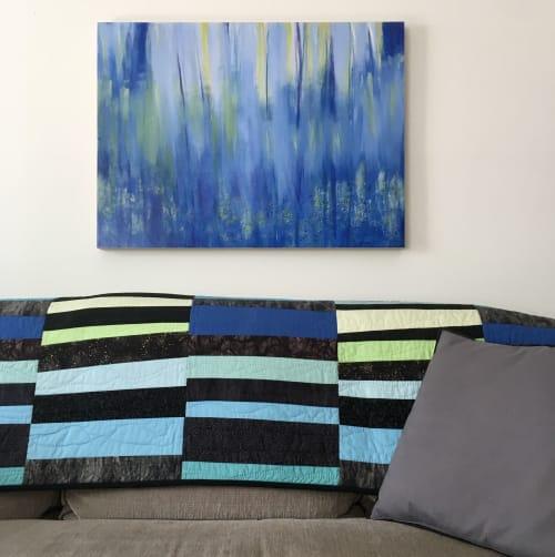 Paintings by Julea Boswell Art Studio seen at Private Residence, Ottawa - Summer Rain Dance