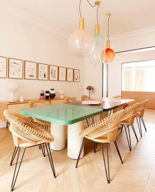 Tables by Fleur Delesalle seen at Private Residence, Rhinebeck - Dining Table