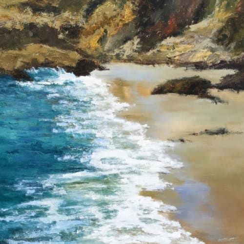 Paintings by Michelle S. Burt seen at Private Residence, Laguna Beach - Seascape Painting - 129