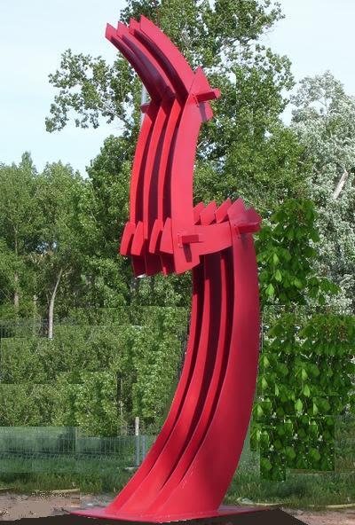 """Public Sculptures by Kemal Tufan seen at Almazán, Almazán - """"The keel"""""""