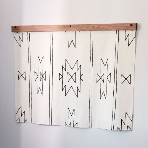 Wall Hangings by Little Korboose seen at Private Residence, Brooklyn - New Mexico | Hand Screen-Printed Tapestry