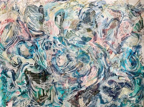 Paintings by K'era Morgan seen at Creator's Studio, Los Angeles - Garden of Deities