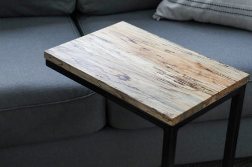 Spalted Maple Side C Table   Tables by Hazel Oak Farms