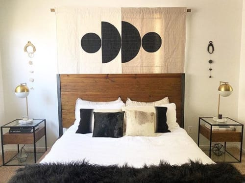 Wall Hangings by Vacilando Quilting Co. seen at Private Residence, Santa Monica - Custom Motherwell Wall Hanging