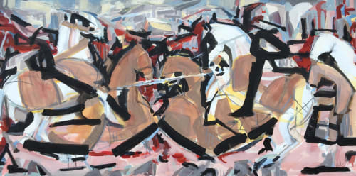Paintings by Heidi Lanino seen at Private Residence, Blackhawk - The Battle