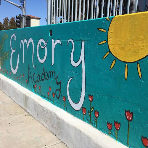 Murals by Little Ant Art seen at Emory Elementary School, San Diego - Emory Elementary mural