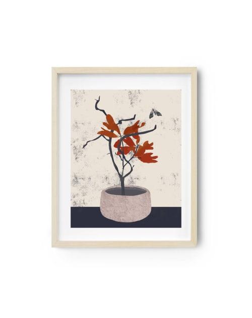 Paintings by Birdsong Prints seen at Creator's Studio, Denver - Wabi Sabi Asian Art, Ikebana