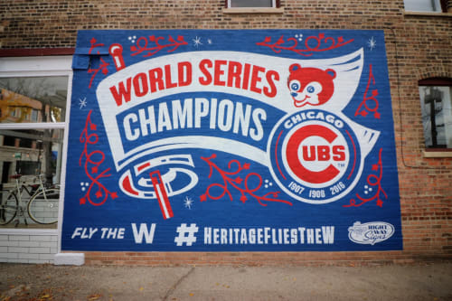 Murals by Right Way Signs, LLC seen at Chicago, Chicago - Chicago Cubs Hand Painted Mural