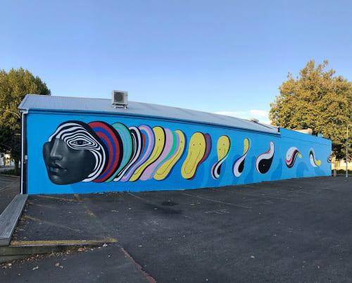 Murals by Gina Kiel seen at Whanganui, Whanganui - Whanganui