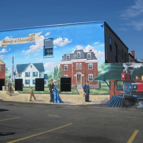 Street Murals by Promiseland Murals, LLC seen at Malvern, Malvern - Borough of Malvern
