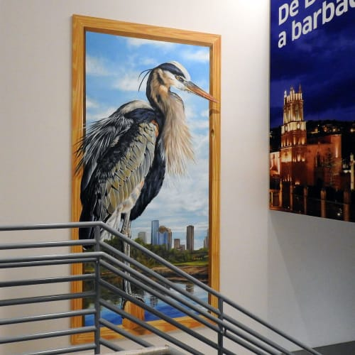 Wall Hangings by Anat Ronen seen at George Bush Intercontinental Airport, Houston - The Great Blue