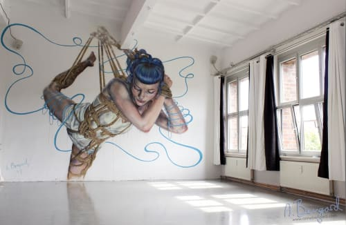 Murals by Anne Bengard seen at Marzahn, Berlin - Bound
