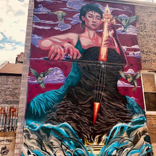 Murals by Czr Prz seen at Pilsen, Chicago - Wall Mural