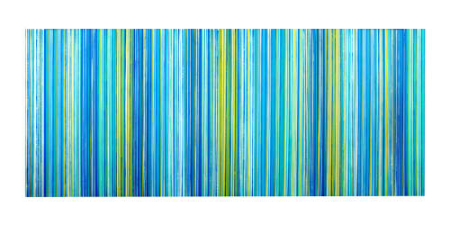 Paintings by Kmoe seen at Private Residence, Portola Valley - Stripe Series