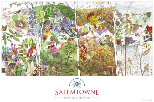 Murals by Trena McNabb seen at Salemtowne Retirement Community, Winston-Salem - Salemtowne Retirement Community