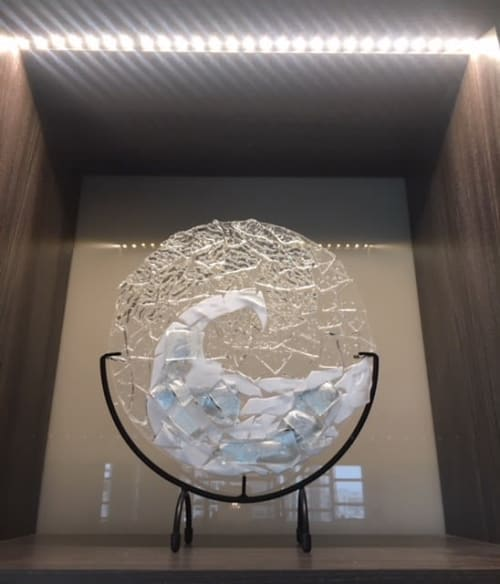 Sculptures by Elijah Kell, @10 STUDIO GLASSWORKS, LLC seen at AC Hotel by Marriott Charlotte City Center, Charlotte - Art Glass Sculptures, Vessels and Rondels