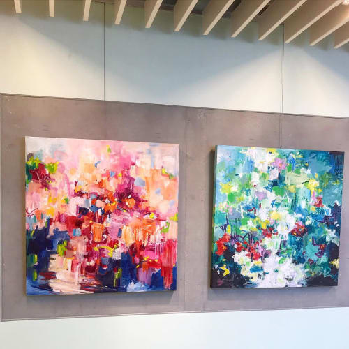 Interior Design by Art by Geesien Postema seen at Martini Hospital, Groningen - Exhibition in a hospital