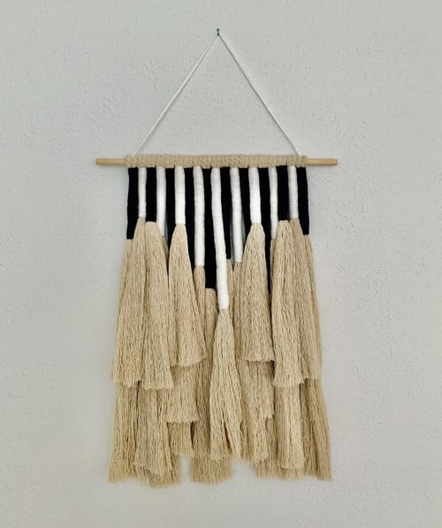 Macrame Wall Hanging by Strand + Stick seen at Private Residence, Denver - Monochrome Hanging