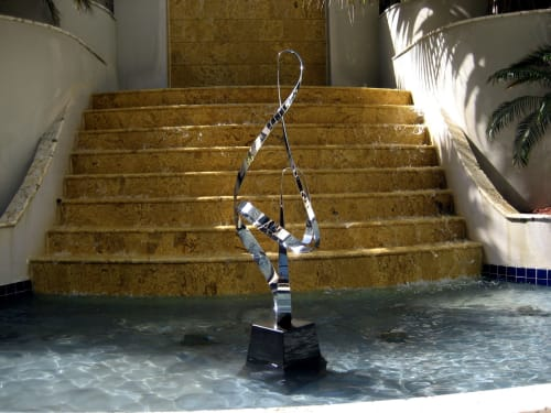 Sculptures by Kinetic Steel seen at The Ritz-Carlton Key Biscayne, Miami, Miami - Infinity