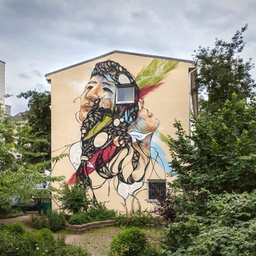 Street Murals by Daniel Thouw seen at Private Residence, Hamburg - Making Way
