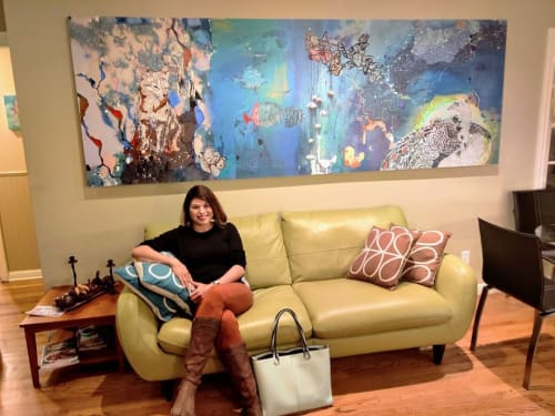 Paintings by Andreina Davila seen at Private Residence, Menlo Park - Becoming Fauna by Eelos
