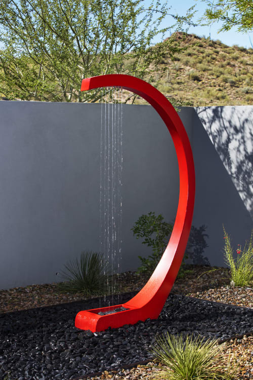 Sculptures by Kevin Caron Studios LLC seen at Private Residence, Scottsdale - WaterHarp