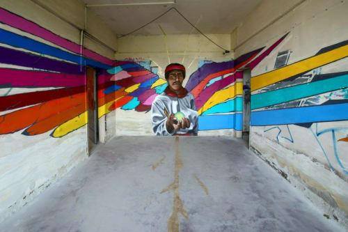 Murals by Axolotl Collective seen at Mexico City - Axolotl