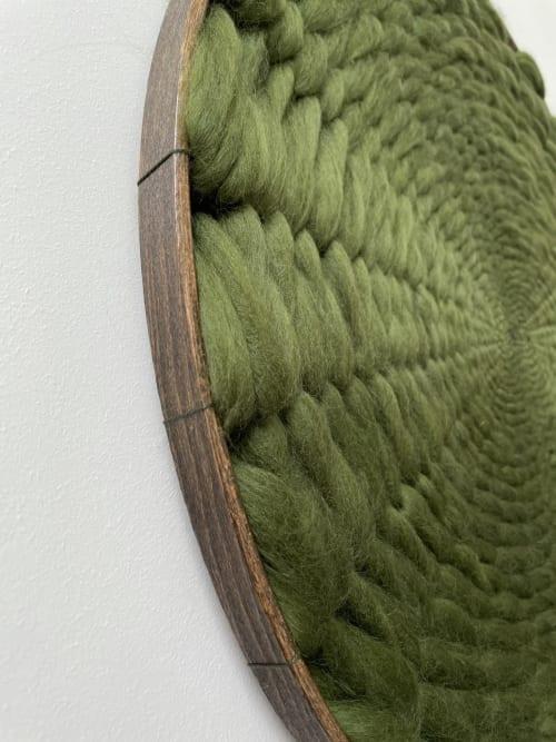 Art & Wall Decor by Elle Collins seen at Creator's Studio, Solihull - Minimalist Kloud fos (cloud wall) XL Green