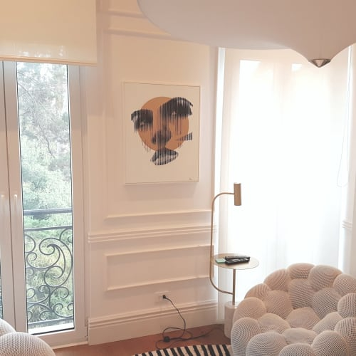 Paintings by Mod Cardenas seen at Private Residence - Original painting in private collection, collector´s home