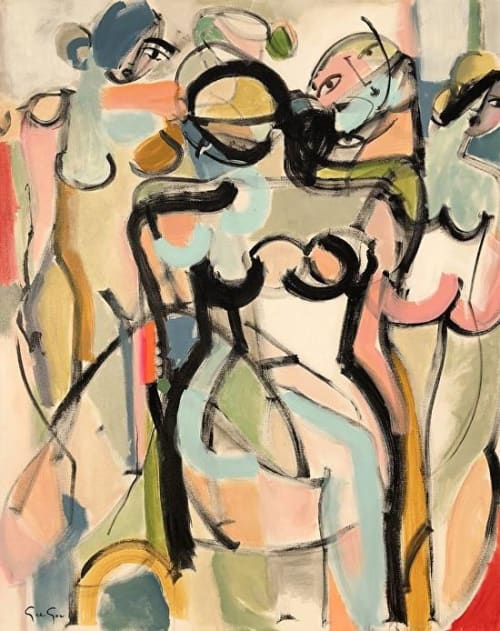 Paintings by Gee Gee Collins seen at Private Residence, New York - The Multiple Sides of Woman