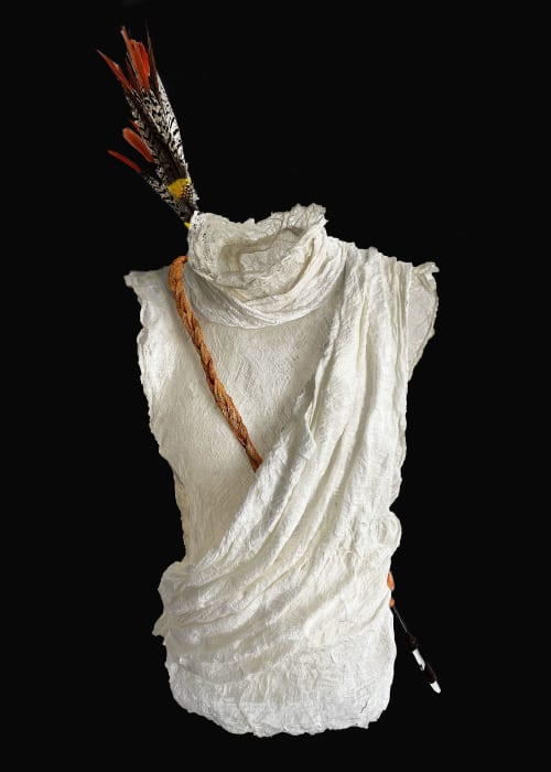 """Sculptures by Frances Vye Wilson seen at New York - GODS AND WARRIORS: Myth. """"Artemis"""""""