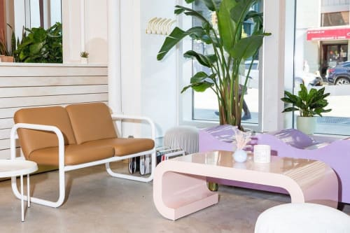 "Benches & Ottomans by Objects for Objects seen at Chillhouse Soho Flagship, New York - ""Wave Bench"""