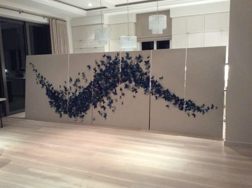 Art & Wall Decor by Collada Art seen at Private Residence, Naples - Flight of the Butterflies 20155