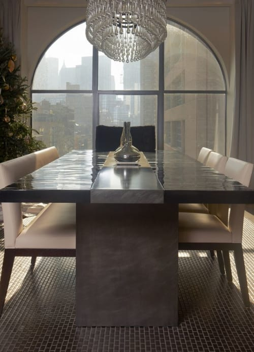 Tables by Aguirre Design seen at Private Residence, New York - Malta Dining Table