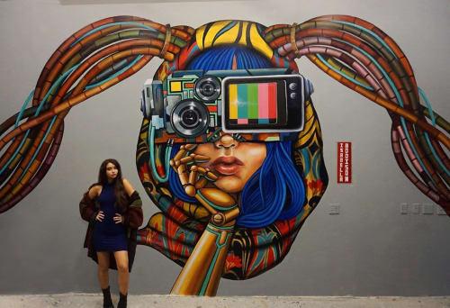 Murals by Isabella Addison seen at Rex Baron Boca, Boca Raton - Vrex Lounge Mural