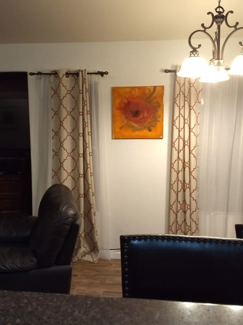Paintings by Michael Wicks Art seen at Private Residence, Quartz Hill - Rose By Any Other Name - acrylic on canvas 24x24""