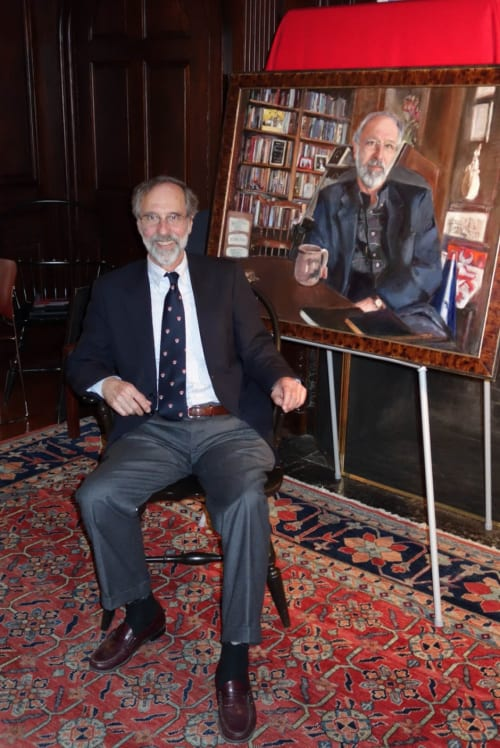 Paintings by Heidi Coutu at Yale University, New Haven - Portrait of Dean John Loge